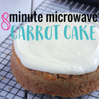 8 Minute Microwave Carrot Cake