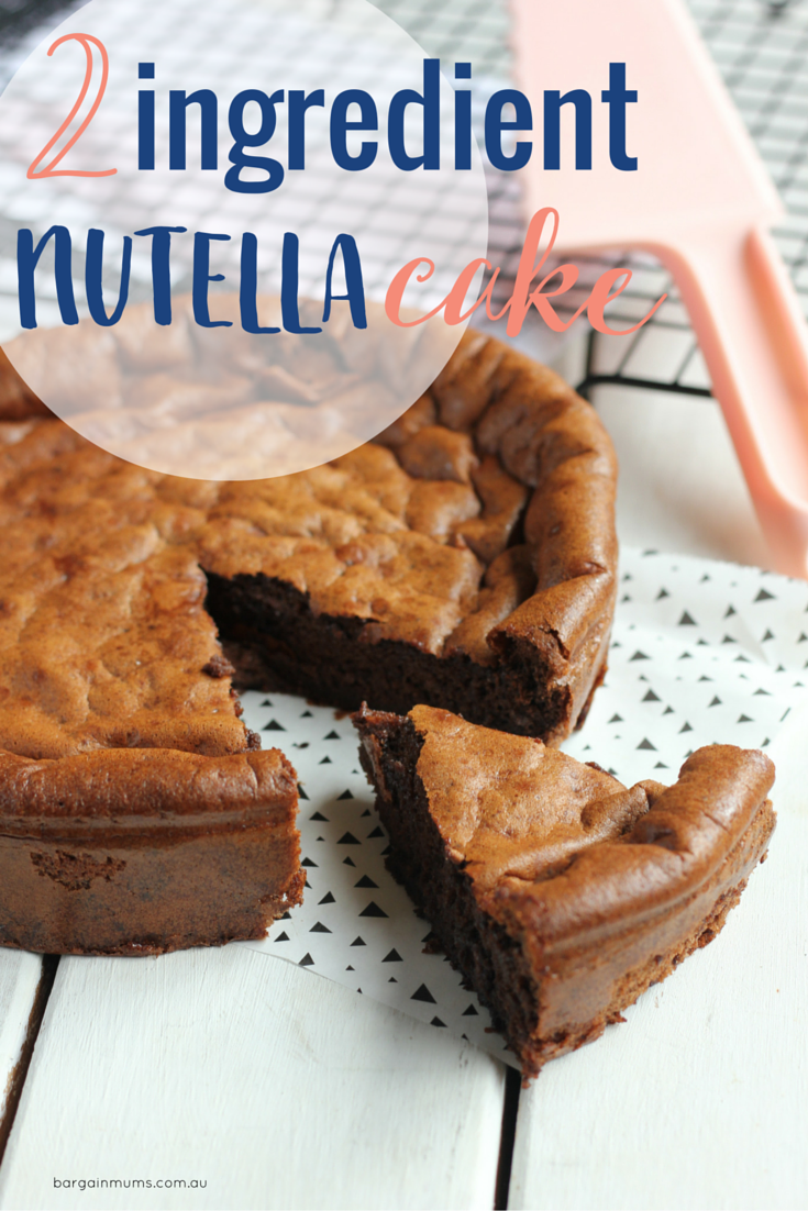 This 2 Ingredient Nutella Cake is the easiest cake you will ever bake. All you need are eggs and Nutella.