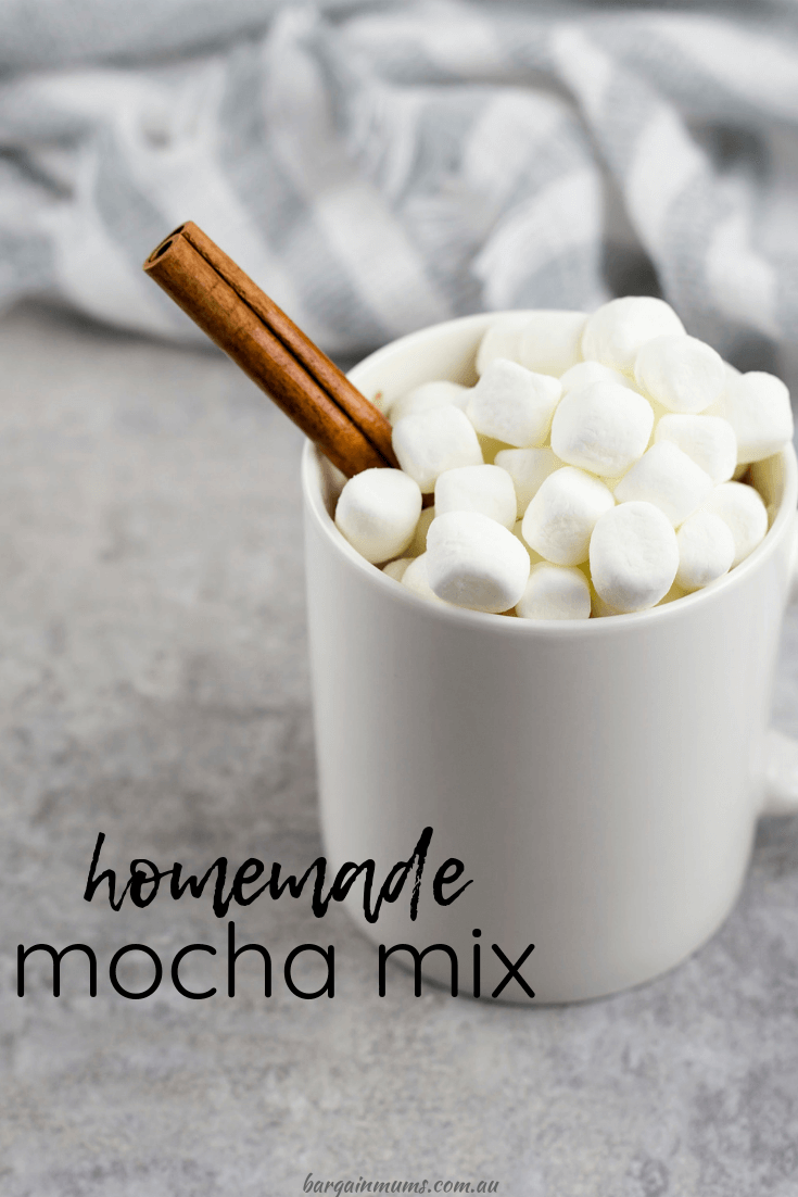 One of the best ways to cut your grocery bill is to make things from scratch. Save money on hot drinks by making a big batch of this homemade mocha mix.