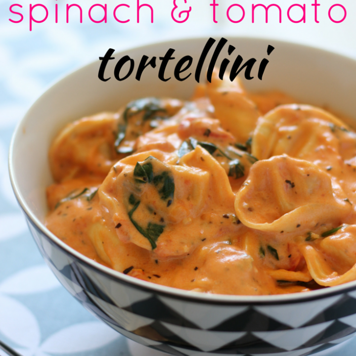 Easy Spinach and Tomato Tortellini