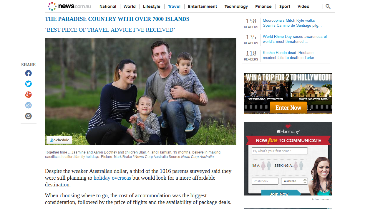 Bargain Mums News Limited Travel Feature