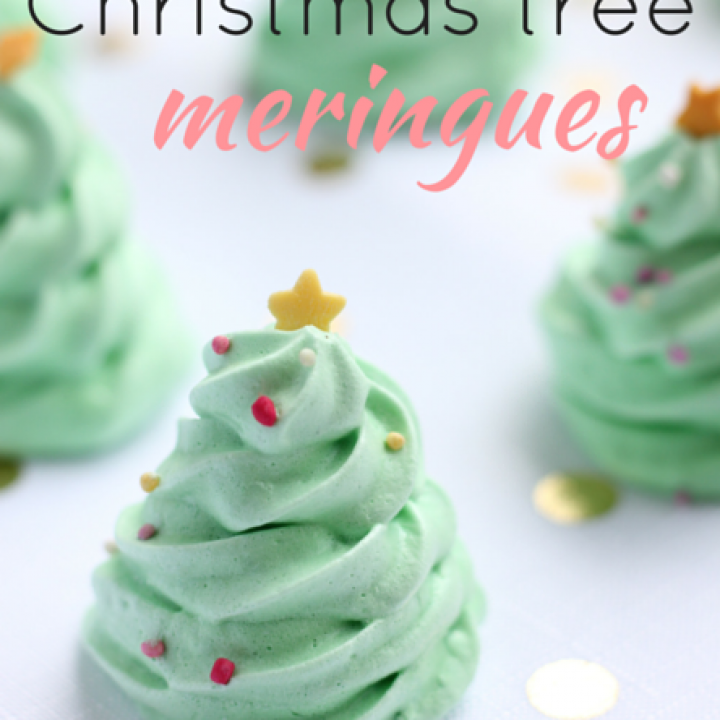 Christmas Tree Meringues recipe