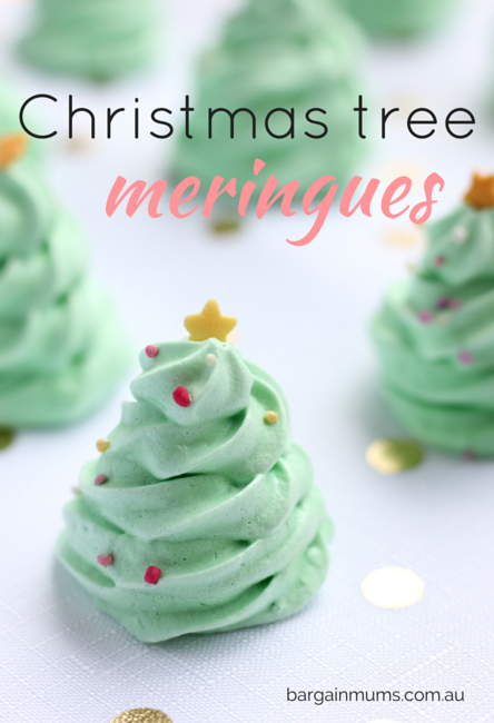 Christmas Tree Meringues recipe
