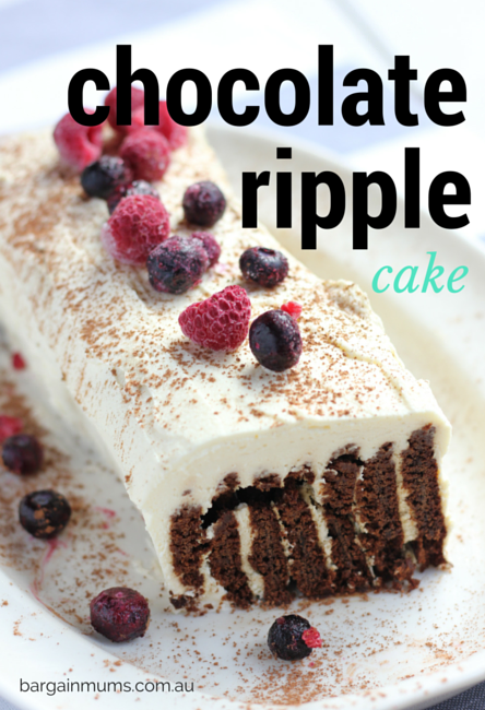 Chocolate Ripple Cake Without Cream