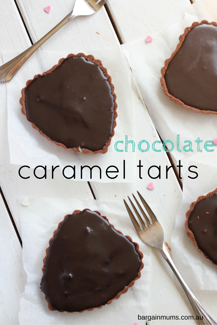 These CHOCOLATE CARAMEL TARTS are the ultimate dessert that will impress anyone www.bargainmums.com.au