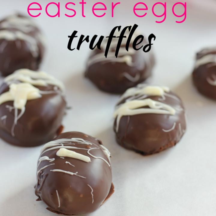 4 Ingredient Easter egg truffles