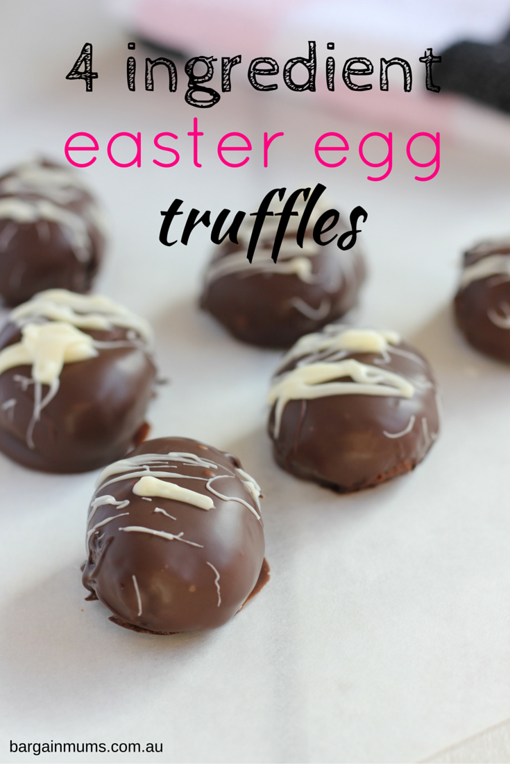 These 4 ingredient EASTER EGG TRUFFLES are the perfect quick and easy Easter treat www.bargainmums.com.au
