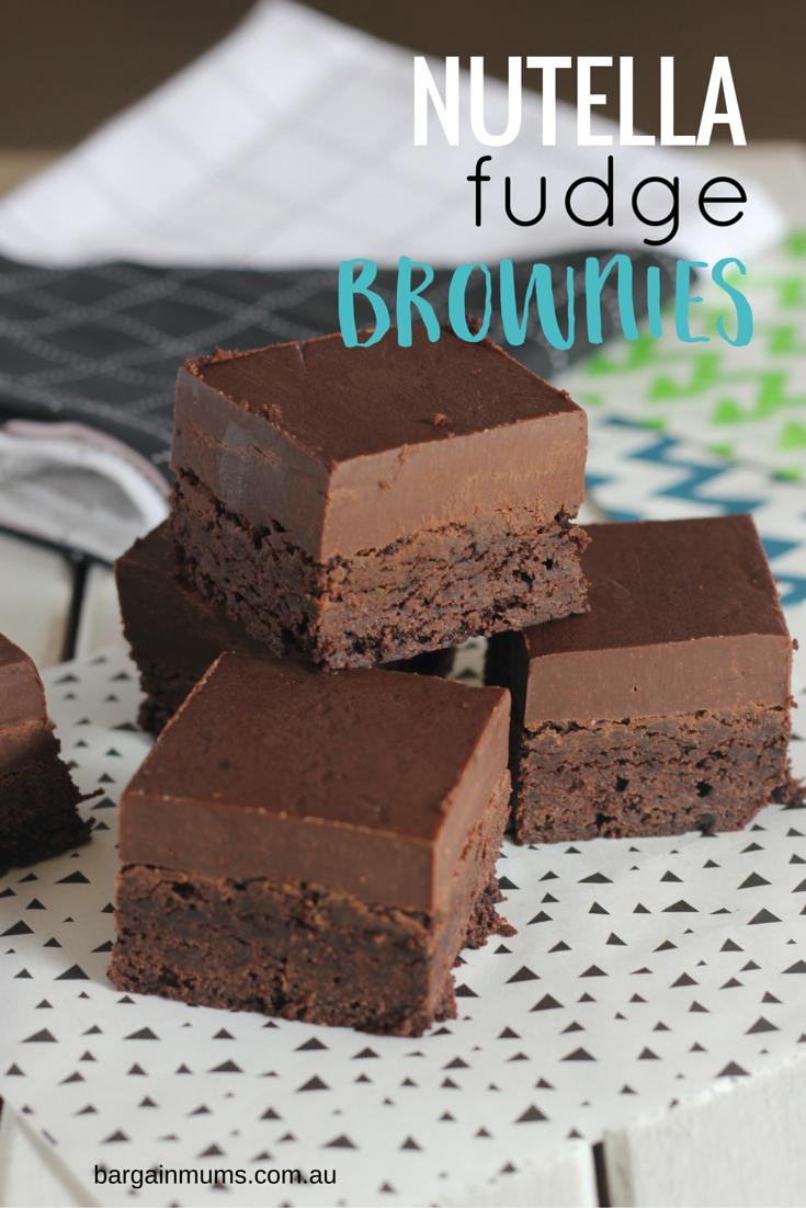 Nutella Fudge Brownies - Bargain Mums