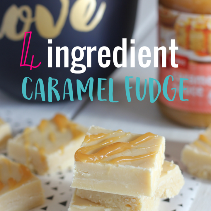 This 4 Ingredient Caramel Fudge is as quick and easy to make as fudge gets, and it tastes delicious!