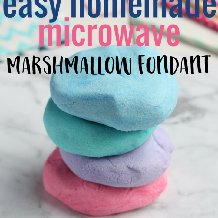 Easy Homemade Microwave Marshmallow Fondant