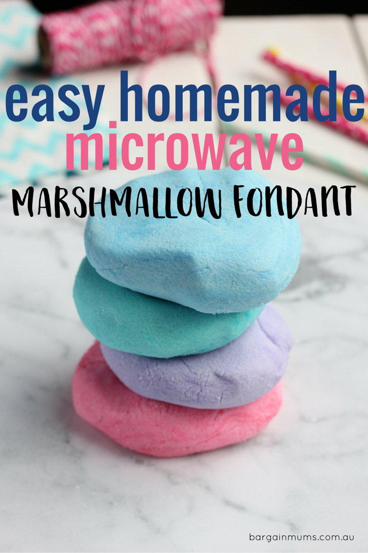 Easy Homemade Microwave Marshmallow Fondant Bargain Mums