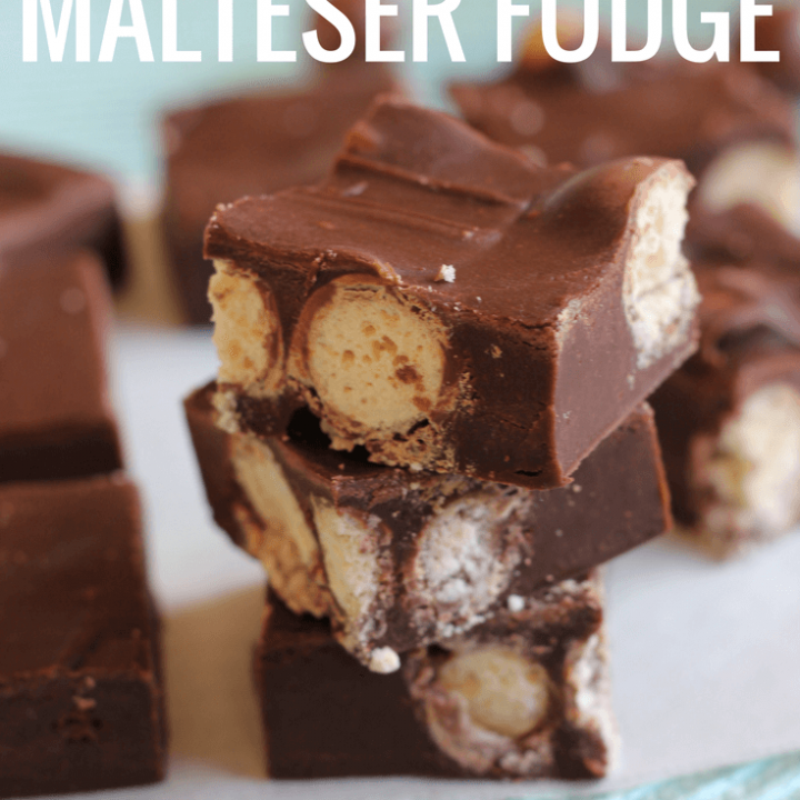 This 3 Ingredient Chocolate Malteser Fudge is as easy as fudge gets. It's the perfect sweet treat for those times chocolate cravings hit.