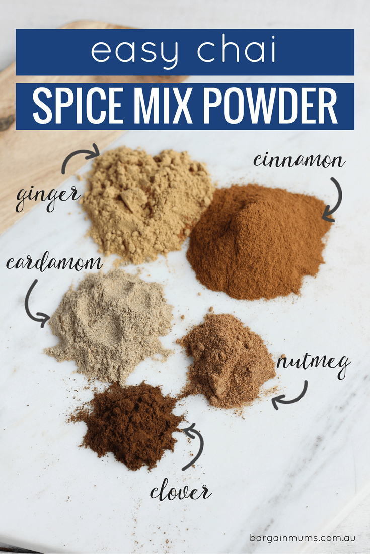 Why buy chair powder when it's so quick, easy and budget friendly to make your own. Add a little chai mixture to boiling water and milk to make a chai latte