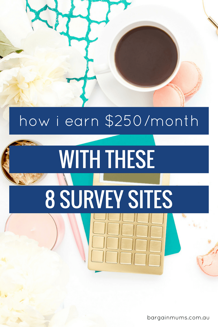 How I earn $250/month with these 8 survey sites