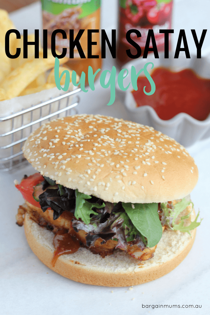 Quick, easy and super tasty, these Chicken Satay Burgers are a great alternative to beef burgers. Add them to your weekly meal plan.
