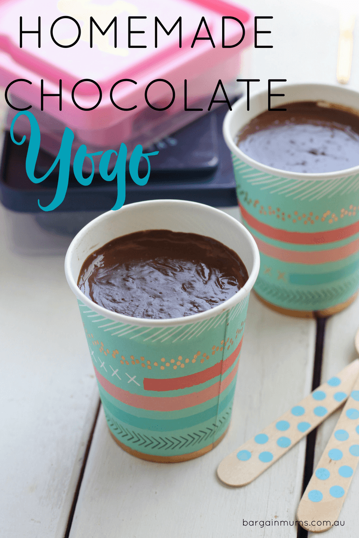 Chocolate Yogo is expensive to buy from the supermarket, so instead make this homemade version and save money, plus you know exactly what's in it.