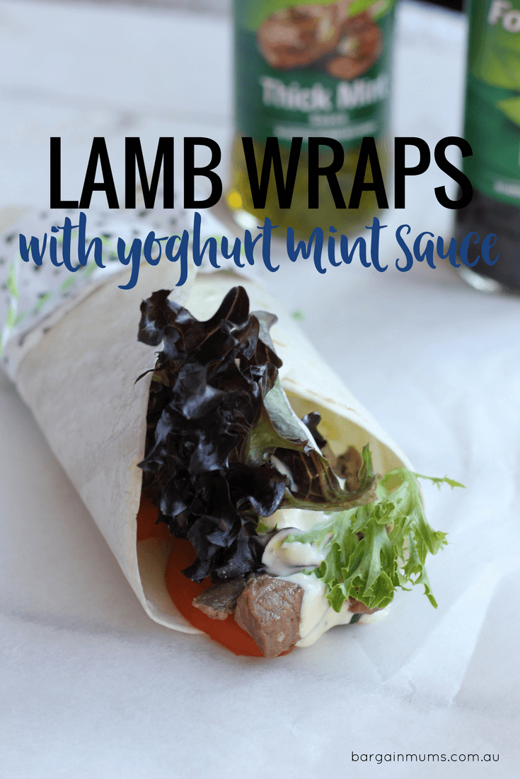 The secret to these lamb wraps tasting so amazing is the mint flavoured yoghurt sauce, which is easier to make than you might think.