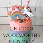 Unicorn Woolworths mud cake hack