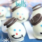Snowman Chocolate Oreo Balls
