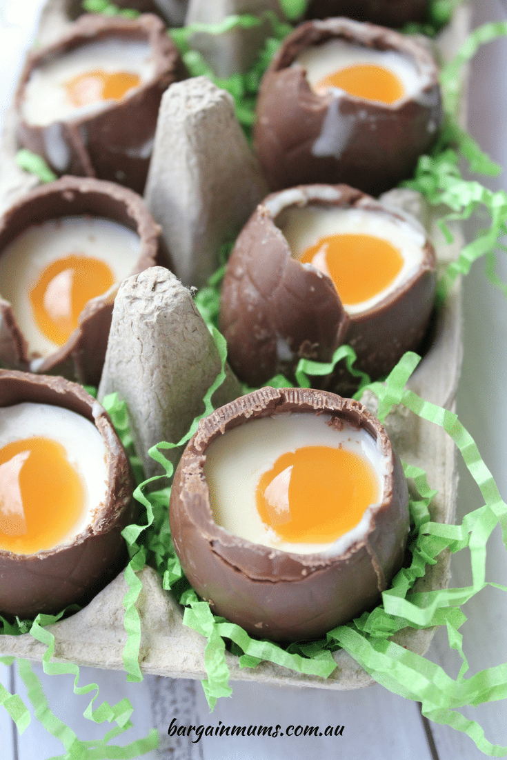If you make just one recipe this Easter, make it these super cute and easy cheesecake filled Easter eggs. These delicious eggs are filled with white chocolate cheesecake filling and topped with goey caramel sauce.