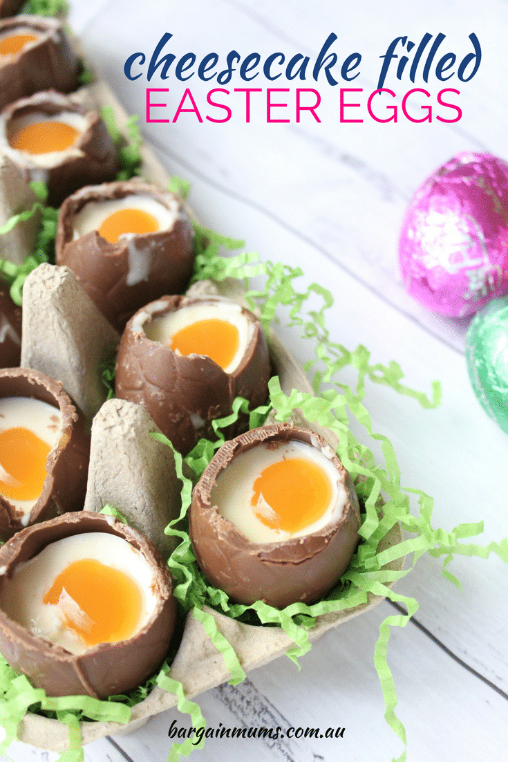 Cheesecake Filled Easter Eggs