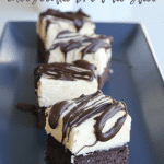 White Chocolate Cheesecake Brownie Slice