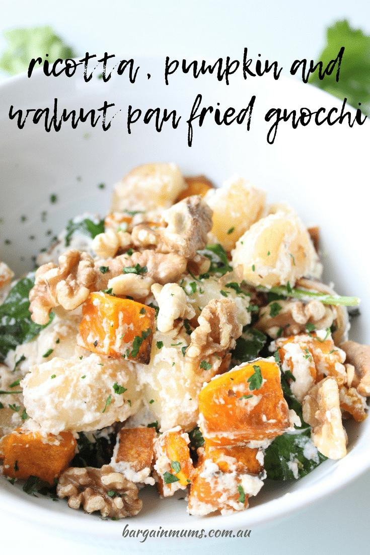 Ricotta, Pumpkin and Walnut Pan Fried Gnocchi