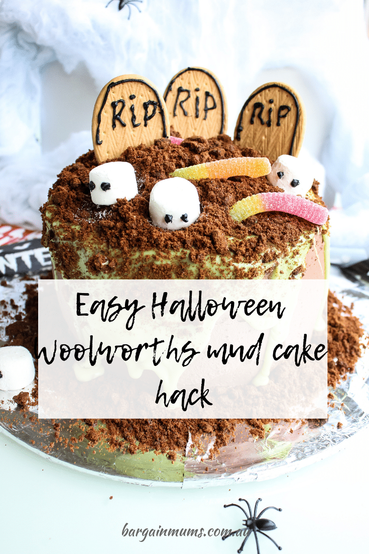 Can't get enough of Woolworths mud cake hacks? This Easy Halloween mud cake hack is perfect for those Halloween get togethers, and takes no time at all to put together.