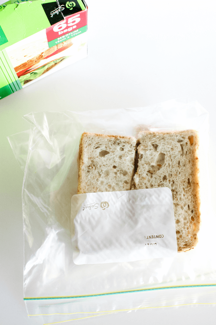 Make and freeze sandwiches in bulk and save time making lunches each morning.