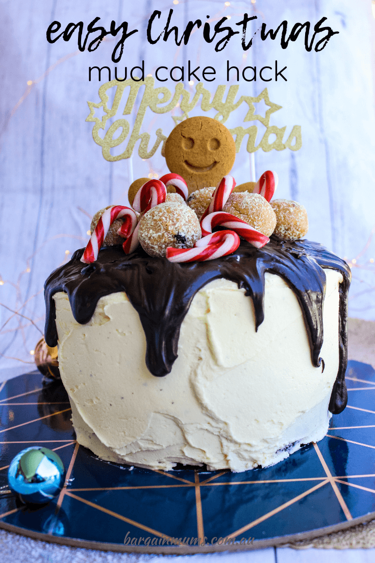 Nothing beats a Woolworths mud cake hack for a quick and easy celebration cake, and this Christmas mud cake hack is no exception.
