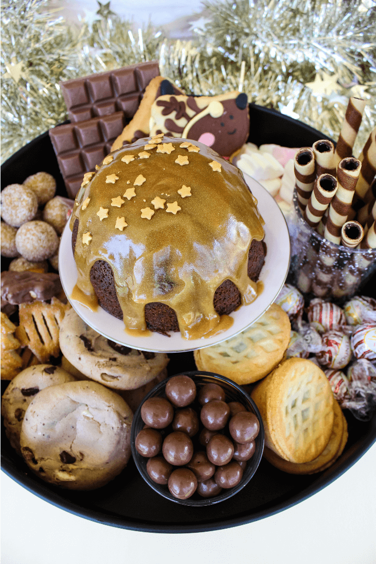 Need a dessert to feed a crowd this Christmas? Try this Christmas dessert platter, complete with Christmas pudding and plenty of other sweet treats to keep the whole family happy.