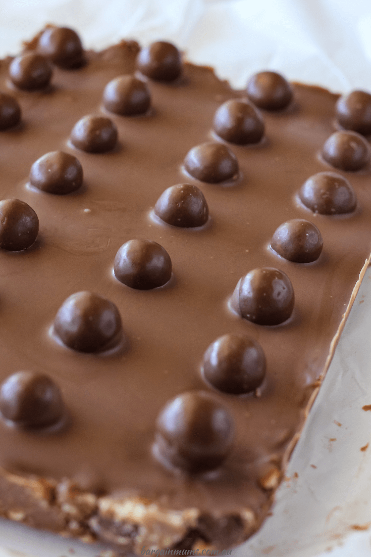 This Malteser Slice is sure to be a new favourite with your family and friends. It's the ultimate chocolate dessert.