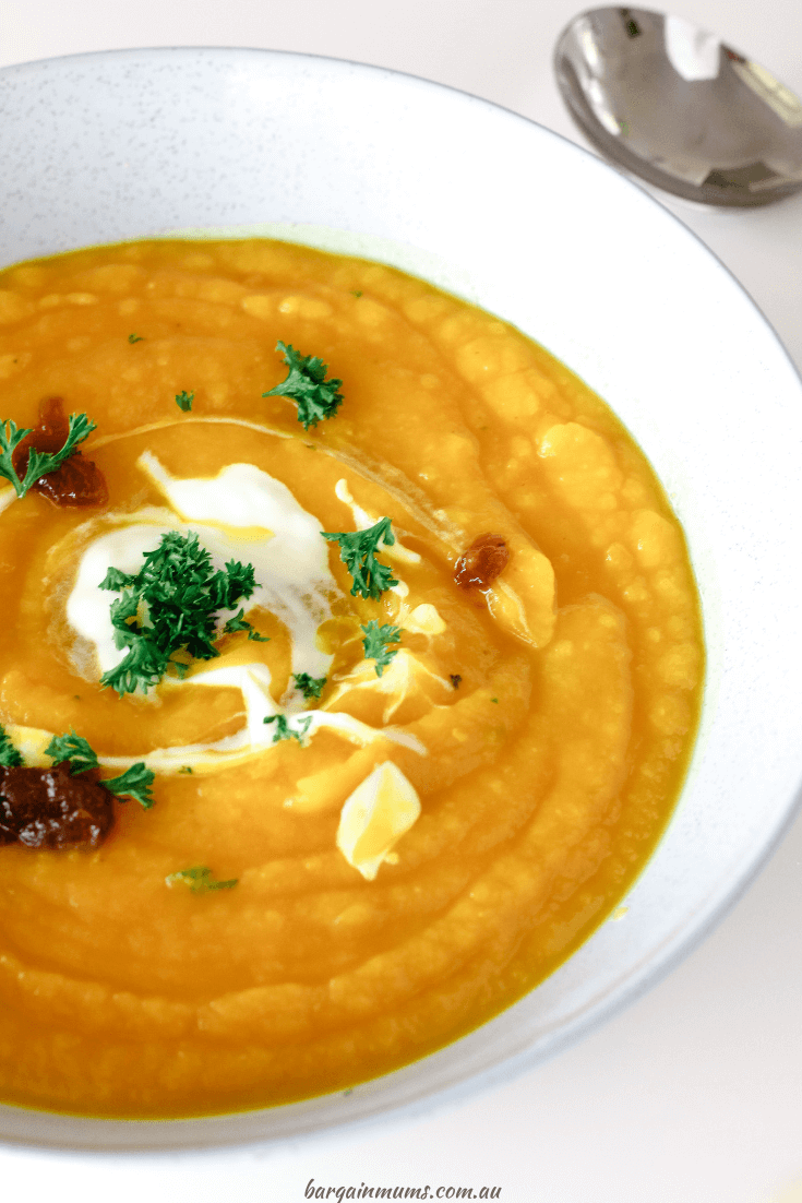 Pumpkin soup has always been an easy soup to make, but this recipe makes it even easier! You don't need to spend 10 minutes peeling and chopping the pumpkin before it even goes in the oven.