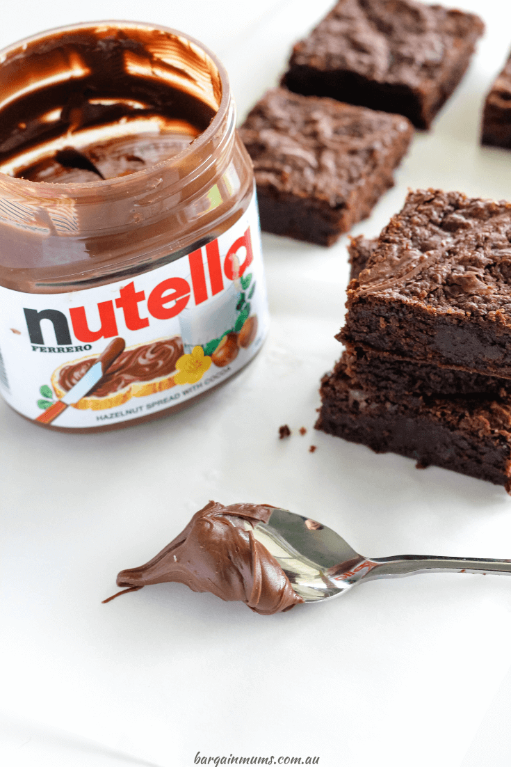 Nutella fans, these Nutella Brownies are for you. They are the ultimate chocolate brownie, flavoured with Nutella and topped with even more Nutella. Even if you don't love Nutella, you are going to love these rich chocolate brownies.