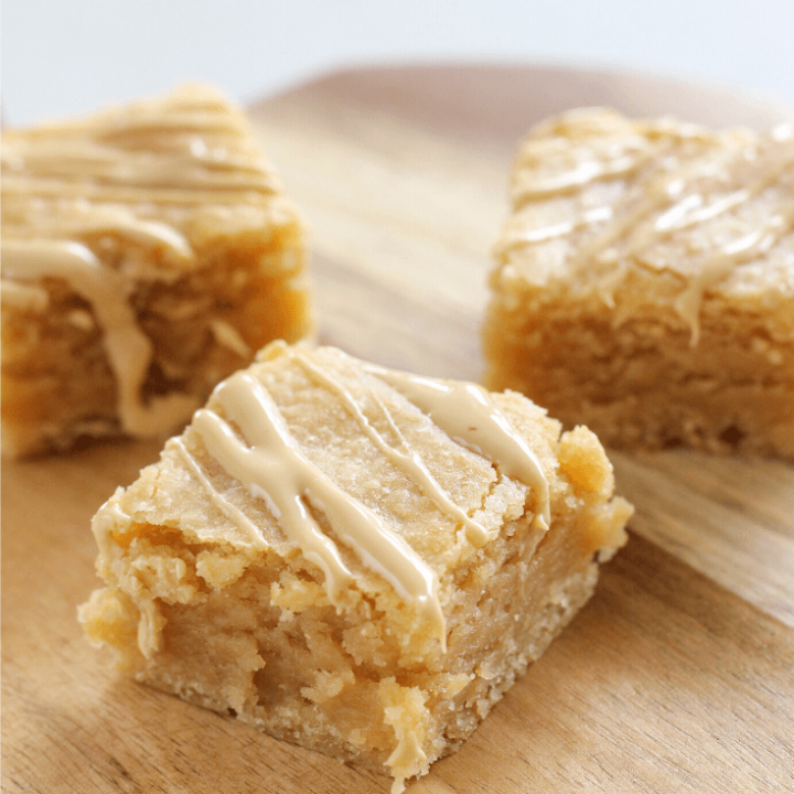While they might not technicallybe 'brown' these Caramilk brownies (or blondies) have the most amazing golden colour and caramel taste. Drizzle the brownies with a little extra melted Carailk for more caramel goodness.