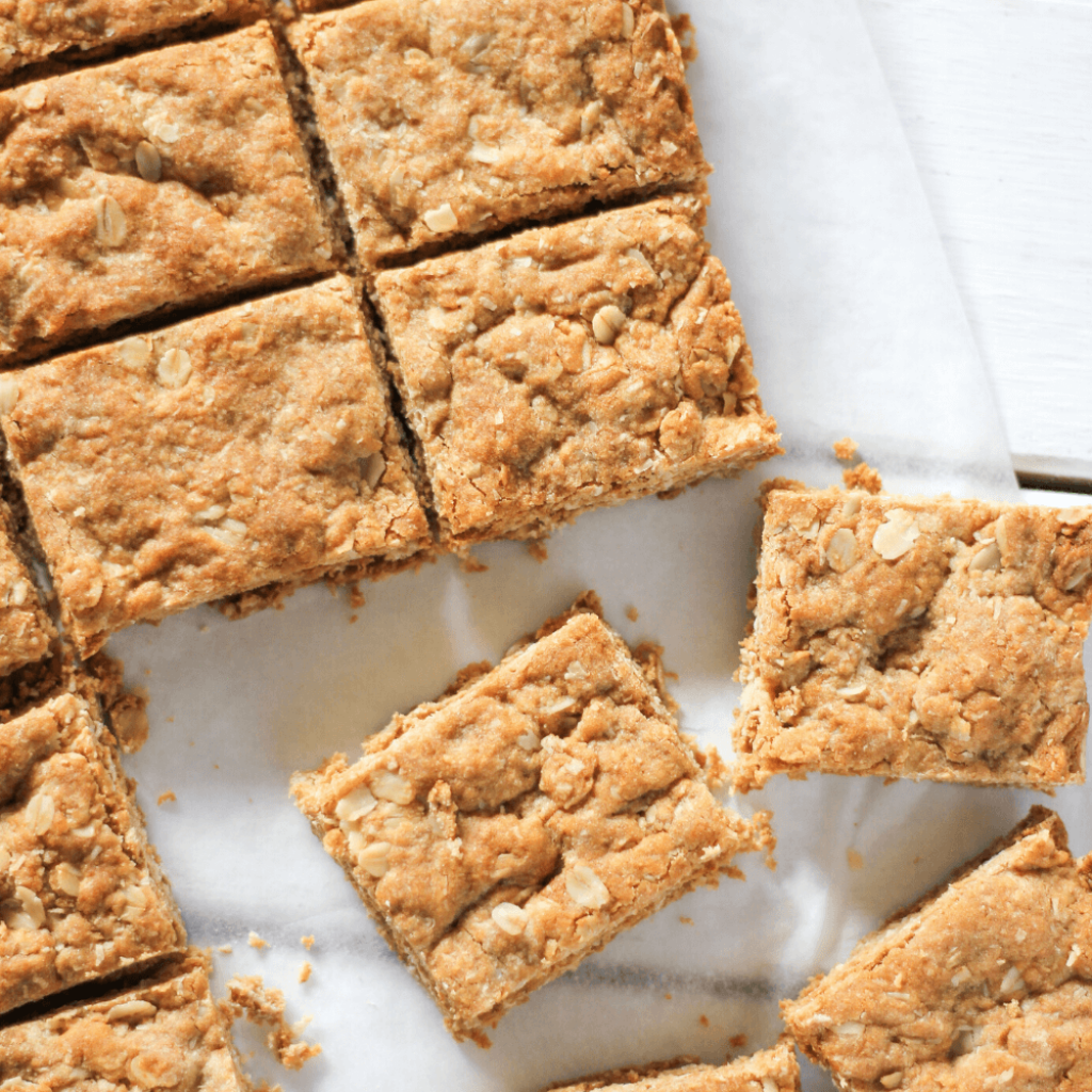 Anzac biscuits are one of my all time favourite biscuits.  There is something about that chewy texture and the fact that they are so easy to make.  For an even quicker version, try this Anzac slice.  It's everything Anzac biscuits are, but in a quick and easy slice form.