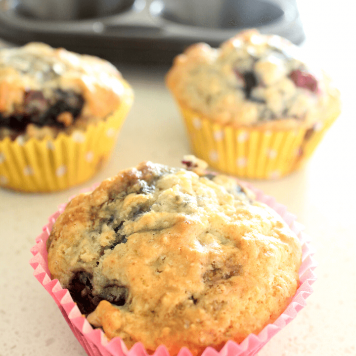 Nothing beats a batch of blueberry muffins straight out of the oven. This blueberry muffin recipe is as simple as it gets. You only need 6 basic ingredients to whip up a batch.