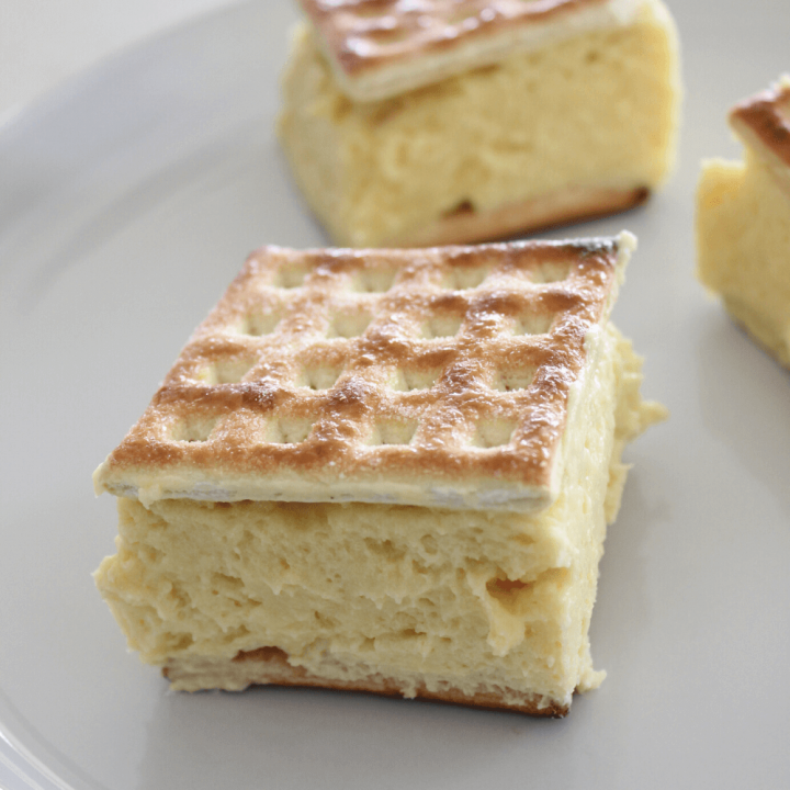 Vanilla slice is by far one of the most popular desserts in our house, but this Caramilk vanilla slice takes vanilla slice to a whole different level.