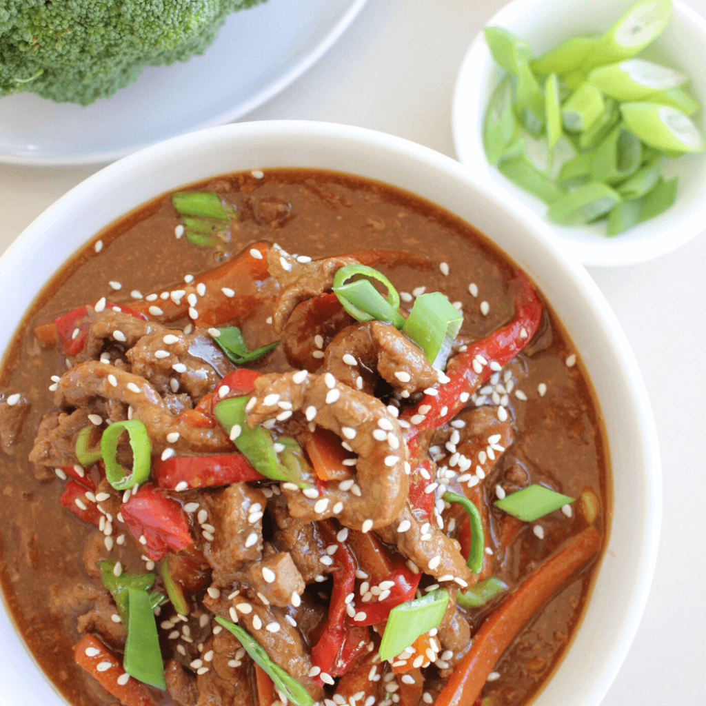 This Mongolian beef is perfect for those at home takeaway nights. It tastes just as good, if not better, than takeaway. Even better, it's made in the slow cooker which makes for an easy dinner.