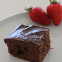 There is something special about this velvety smooth chocolate sour cream cake. The sour cream in the cake batter works perfectly, as it also does in the chocolate icing.