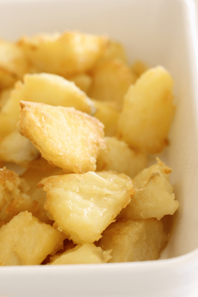 These best ever roast potatoes are everything roasted potatoes should be.  Crispy on the outside and soft on the inside, they are the perfect side dish to any meal.