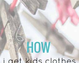 How I get kids clothes for free
