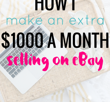 How I make an extra $1000 a month selling on eBay